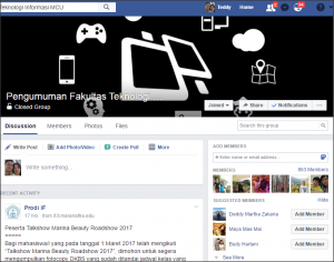 Facebook Pengumuman FIT