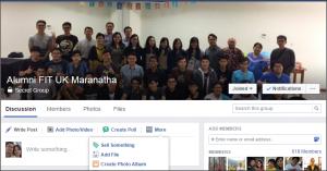 Facebook Alumni Fakultas Teknologi Informasi Maranatha